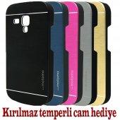 Samsung Galaxy S3 Mini Kılıf Motomo Metal Cam