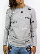 Sticker Sweatshirt Cartoon Ntw.
