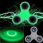 Fosforlu Stres Çarkı Işıklı Gece Parlayan Hand Spinner