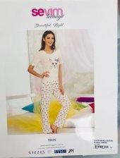 Sevim Baskılı Bayan Pijama Takımı 10675