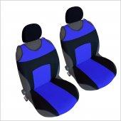 2 &#039 Li Set Oto Atlet Tipi Koltuk Kılıfı Kaliteli Sport Üniversal Siyah Mavi