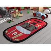 Confetti Çocuk Odası Oyun Halısı Speed Racer 100x200