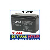 Sp 127 Supex Batarya Kuru Akü12v 7ah Supex