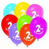 100 Adet Kikajoy 2 Yaş Baskılı Pastel Balon