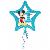1 Adet Kikajoy Mickey Mouse Yıldız Şekilli 1 Yaş Folyo Balon 45cm