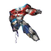 1 Adet Kikajoy Uçan Transformers Folyo Balon