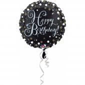1 Adet Kikajoy Happy Birthday Temalı Siyah Folyo B...