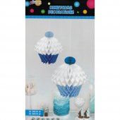 Kikajoy İkili Cupcake Mavi Petek Süs
