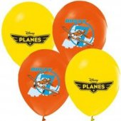 100 Adet Çift Taraflı Planes Baskılı Balon