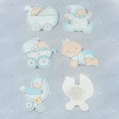Kikajoy Baby Shower Erkek Bebek Sticker 6lı