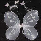 Kikajoy Beyaz Renk Kelebek Kanat Seti