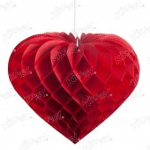 Kikajoy Kalp Şekilli Petek Süs Kırmızı