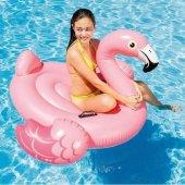 ıntex Tek Kişilik Şişme Flamingo Deniz Yatağı Ada 142x137x97