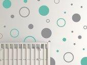 çocuk Odası Sticker Yıldızlar Bulut Ay İsme Özel