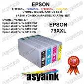 Asyaink Epson Wf 5690dwf Yazıcı Uyumlu Muadil Kartuş Seti