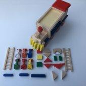 Eğitici Ahşap Geometrik Şekilli 26 Parça Tren Oyuncak Seti