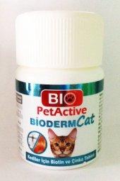 Pet Active Bioderm Kediler Için Deri Ve Tüy Sağliğini Koruyucu Biyotin Çinko Tablet 100 Adet
