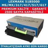 Lexmark Ms Mx317 51b5000 Muadil Toner Ms Mx417 517 617 2500 Sayfa