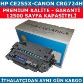 Hp 55x Ce255x 12.500 Sayfa Siyah Muadil Toner Canon Crg724h