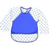 Sevi Bebe Kollu Mama Önlüğü Mavi 54