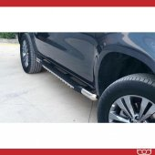 Mitsubishi L200 Triton Poli Krom Yan Basamak 2015 Sonrası Bod
