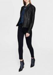 Mavi 110262 900 Bayan Fermuarlı Ceket Siyah