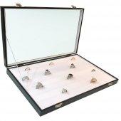 Sosis Model Yüzük Ve Kol Düğmesi Kutusu (Beyaz)