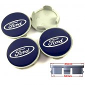Ford Orjinal Tip Mavi Jant Göbeği 50 55mm