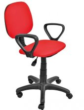 Fileli Kırmızı Ofis Sandalyesi