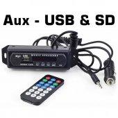 Aux Usb & Sd & Bluetooth Dönüştürücü Mp3 Çalar