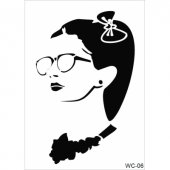 Wc6 Woman Collection Cadence A4 Stencil