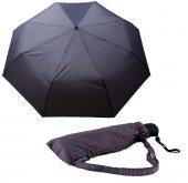 Zeus Umbrella Mavi Ekose Rüzgara Dayanıklı Otomatik Şemsiye