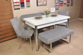 Taytüyü Kumaş Bank Takım Açılır Kelebek Masa Mutfak Masası