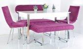 6 Kişilik Mutfak Masası Taytüyü Bank Takımı Masa Sandalye Takımı Yemek Masası Mutfak Masası