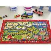 Confetti 100x150 Cm Railway Anaokulu & Çocuk Odası Oyun Halısı