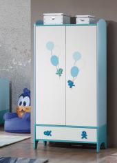 2 Kapaklı Gardrop, Siro Bebek Odası, 2 Kapaklı Gar(Mavi)