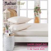 Madame Blue Pamuklu Lastikli Çarşaf Seti Tek Kişilik Yastıkkılıfı