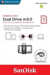 Sandisk Dual Drive 16gb M3.0 Usb Bellek Sddd3 016g G46