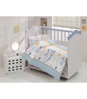 Altınbaşak Bebek Uyku Seti Teddy Mavi