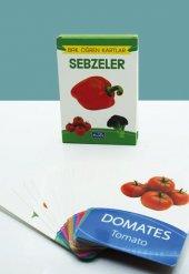 Sebzeler Bak Öğren Eğitici Öğretici Kartlar