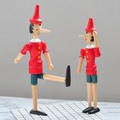 Ahşap Hareketli Pinokyo (Büyük 24 Cm)