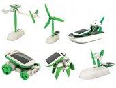Güneş Enerjili Robot Oluşturma Seti Solar Kit (6 İn 1)