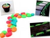 Beş Renk Fosforlu Çakıl Taşları (50 Adet)