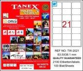 Tanex Tw 2021 63,5x38,1 Mm Laser Etiket