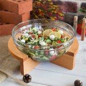 Joy Kitchen Gardenıa Salata Kasesi Ahşap Standlı P53583 &