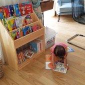 Ceri Masif Ahşap Montessori Kitaplık