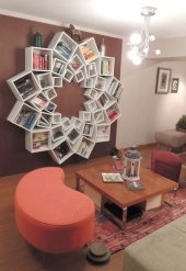 Tasarım Flower Lake Kitaplık
