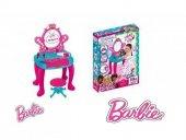 Barbie Piyanolu Güzellik Seti Işıklı Müzikli Aynalı Kız Çocuk Mak