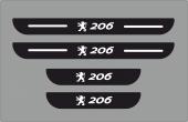 Peugeot 206 Plastik Kapı Eşiği (4lü Set)