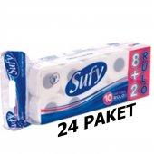Sufy 10 Lu Tuvalet Kağıdı Çift Katlı 24lü Set